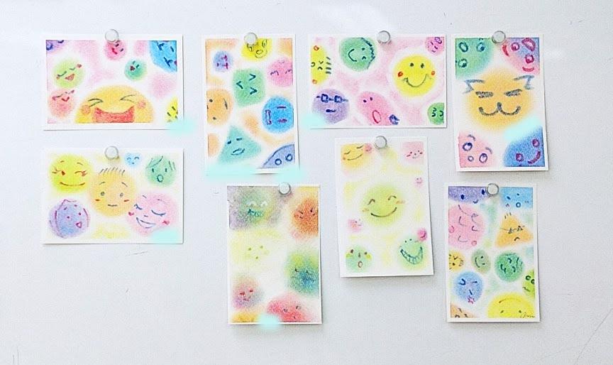 色作りとイロイロな表情を描いた3色パステルアート