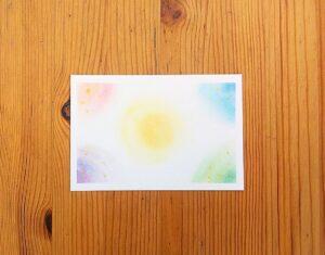 立春大吉のお札を作成した3色パステルアート